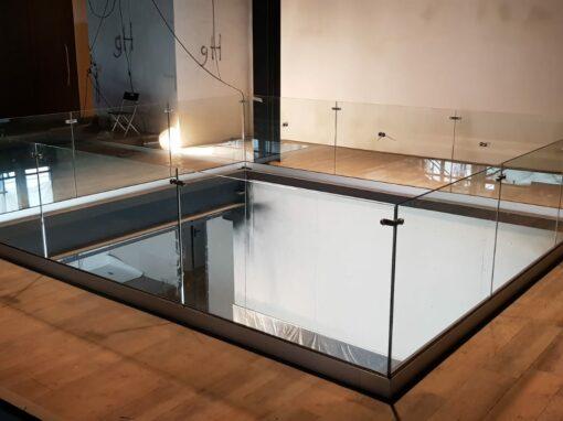 Glazen balustrade restaurant